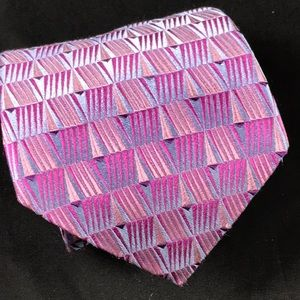 Ted Baker pink and purple geometric pattern tie